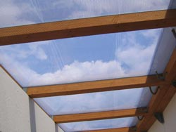 Clear ETFE film cushions allow you to look thrue and isolate